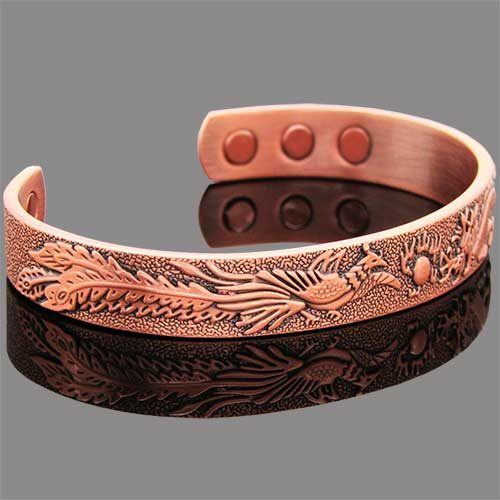 Copper Magnetic Bracelet - Dragon and Pickock