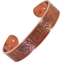 Mens Womens Celtic Copper Magnetic Bracelet- Scottish Thistle