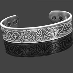 Copper Magnetic Bracelets For Arthritis-Antique Silver Eagle