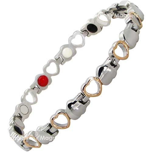 4 in 1 Womens Magnetic Health Bracelet - Magnets & Bio Stones