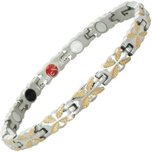 4 in 1 Womens Magnetic Bracelet with Negative Ions, Infra-Red and Germanium Elements – BFRG