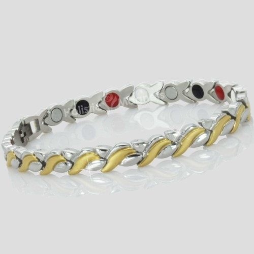 4 in 1 Womens Magnetic Bracelet with Negative Ions, Infra-Red and Germanium Elements – SGB4
