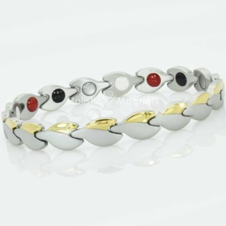 4 in 1 Womens Magnetic Bracelet with Negative Ions, Infra-Red and Germanium Elements – GSL4