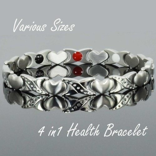 4 in 1 Womens Magnetic Bracelet with Negative Ions, Infra-Red and Germanium Elements – HKS4