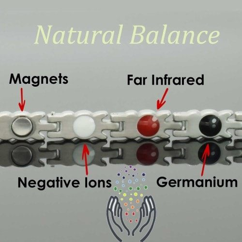 4 in 1 Womens Magnetic Bracelet with Negative Ions, Infra-Red and Germanium Elements – BFYG