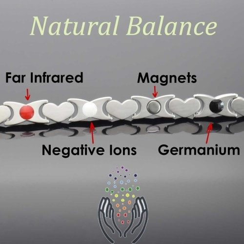 4 in 1 Womens Magnetic Bracelet with Negative Ions, Infra-Red and Germanium Elements – HKG4