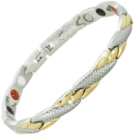 4 in 1 Womens Stainless Steel Magnetic Bracelet - YGS4