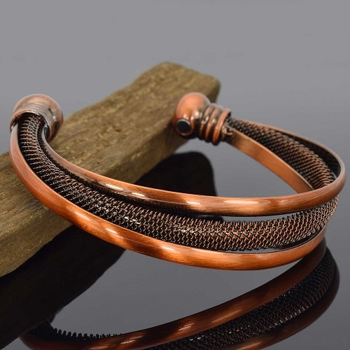 Copper magnetic bracelet for women