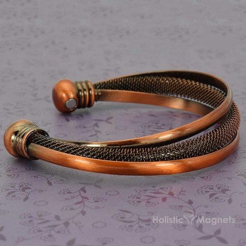Copper magnetic bracelet for women