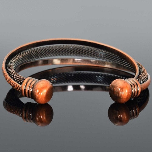 Celtic copper magnetic bracelet cuff for women healing for How does magnetic jewelry work