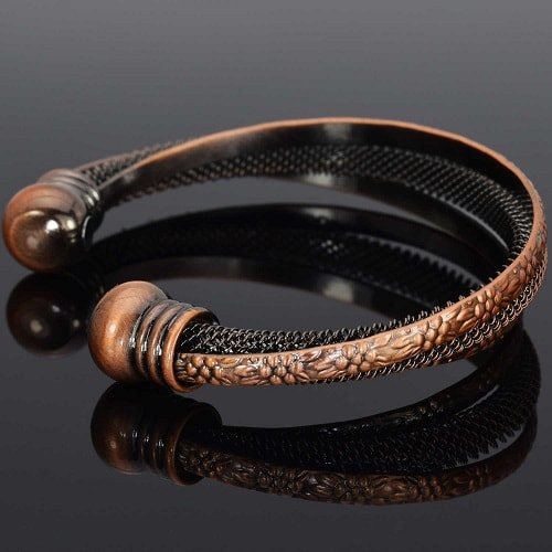 Copper magnetic bracelet cuff for women trff holistic for How does magnetic jewelry work