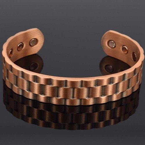 mens copper magnetic bracelet healing bangle armband arthritis