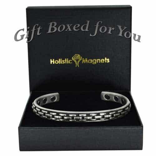 men's copper magnetic bracelet health bracelet healing magnetic therapy arthritis silver weave