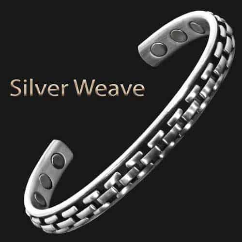 men's-copper-magnetic-bracelet-health-bracelet-healing-magnetic-therapy-arthritis-silver-weave