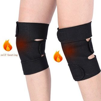Knee Brace Adjustable Tourmaline Magnetic Therapy Knee Support for Joint Pain Relief - Pack of Two