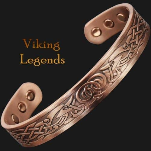 Viking Bracelet Mens Copper Cuff Magnetic