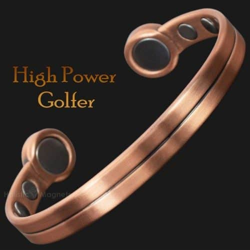 Mens Magnetic Therapy Bracelet Copper Health For Arthritis Golf Golfer