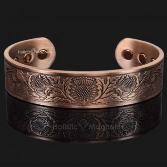 Copper bracelet health magnetic bracelet for health magnets for pain relief copper magnetic bracelet arthritis Scottish thistle