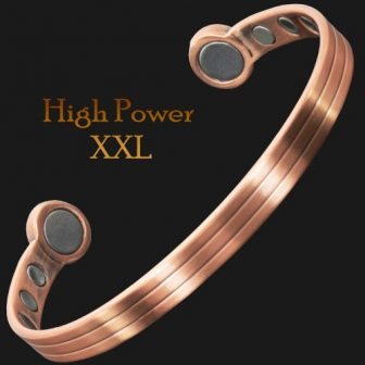 Mens Copper Magnetic Bracelet for Arthritis Therapeutic Bracelet Wristband for Pain Extra Strength Magnets – XXL Size