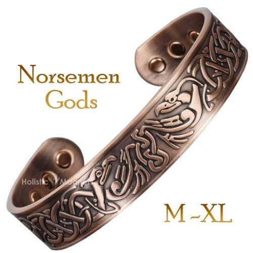 mens copper bracelet for arthritis magnetic bracelet helaing health bracelet for pain viking bracelet eagles