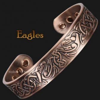 mens copper bracelet for arthritis magnetic bracelet healing health bracelet for pain viking bracelet eagles