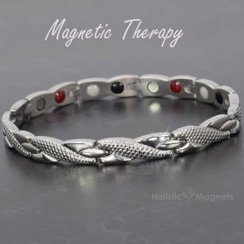 Ladies Magnetic Bracelet 4 in 1 Magnetic Therapy Bracelet for Pain Relief with Germanium and Infra-Red Healing Elements for Energy & Detox – SS4