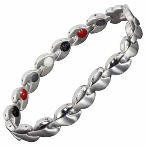 Womens Magnetic bracelet 4 in 1 Magnetic Therapy Bracelet for Pain Relief with Germanium and Infra-Red healing Elements for Energy & Detox SLD2