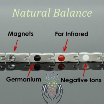 womens stainless steel magnetic bracelet negative iones health bracelet pgs4