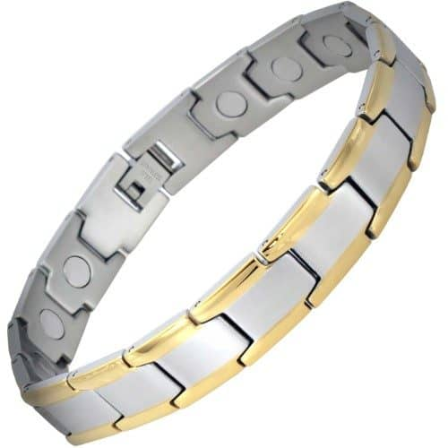 mens magnetic bracelet stainless steel for pain relief health bracelet healing bracelet for arthritis tt15