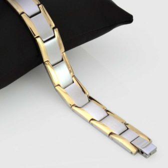 mens magnetic bracelet stainless steel for pain relief health bracelet healing bracelet for arthritis tt15