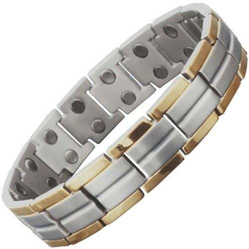 titanium magnetic bracelet pain releif magnetic therapy mens tt 30