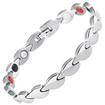 ladies magnetic health bracelet pain relief ion energy wristband healing magnetic therapy sl4