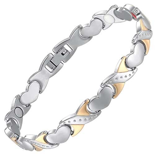 32ddb8437fb18 4 in 1 Womens Magnetic Bracelet with Negative Ions, Infra-Red and Germanium  Healing Elements – HKG4
