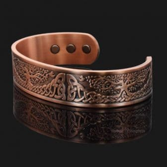 copper magnetic bracelet celtic irish tree of life trl