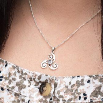 Celtic Triple Spiral Pendant