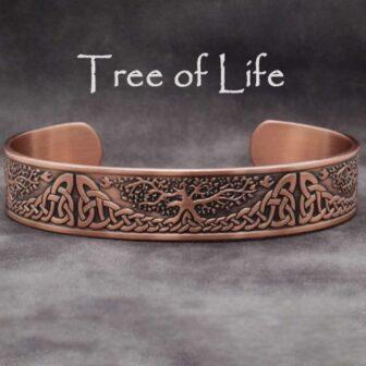 pure copper bracelet tree of life trl