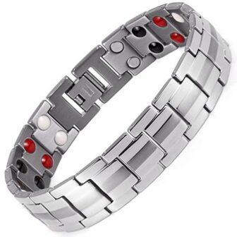 titanium magnetic bracelet men holistic magnets pain relief st4
